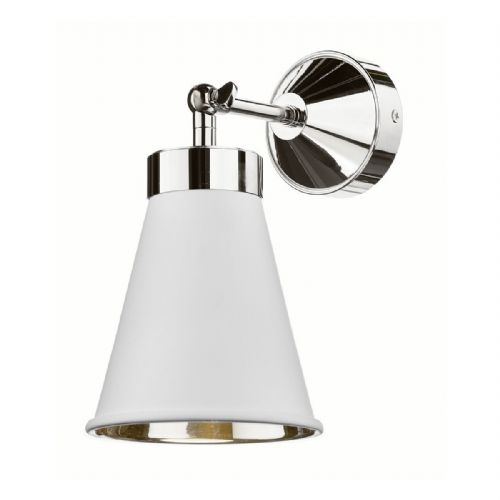 Hyde Single Wall Bracket Chrome + Arctic White Metal Shade HYD0702C (7-10 day Delivery)